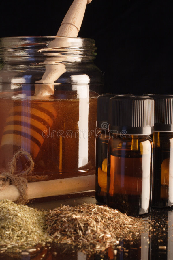 Ear candle ingredients royalty free stock photography