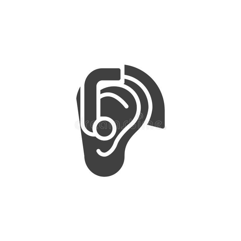 Ear Hearing Aid vector icon royalty free illustration