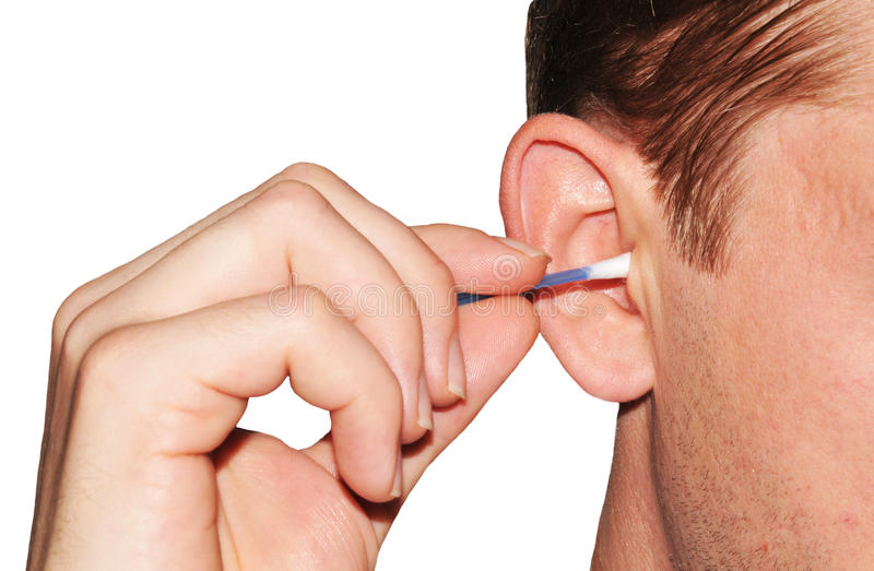 Ear hygiene royalty free stock photography