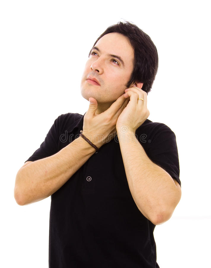 ear pain royalty free stock photography