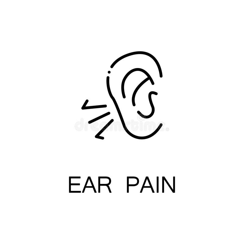 Ear pain icon royalty free illustration