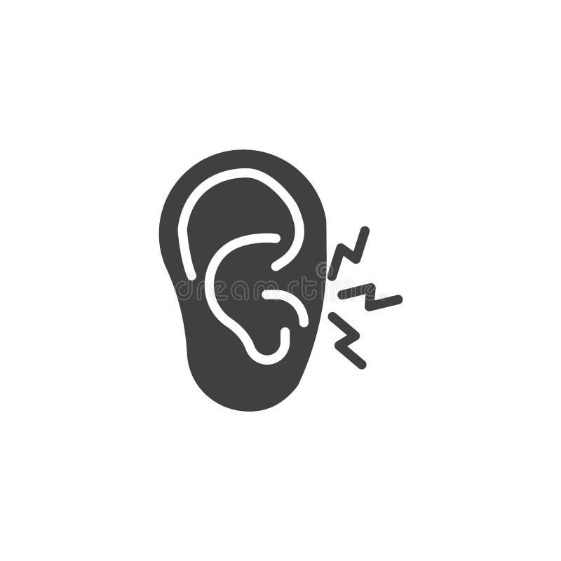 Ear pain vector icon stock illustration