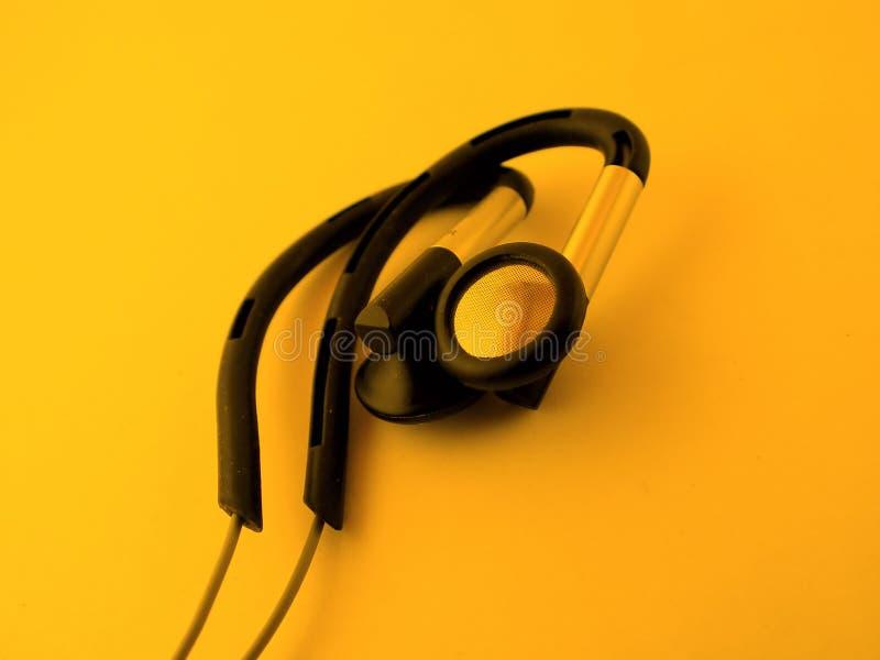 Download Ear phones stock image. Image of cord, orange, sound, black - 83611