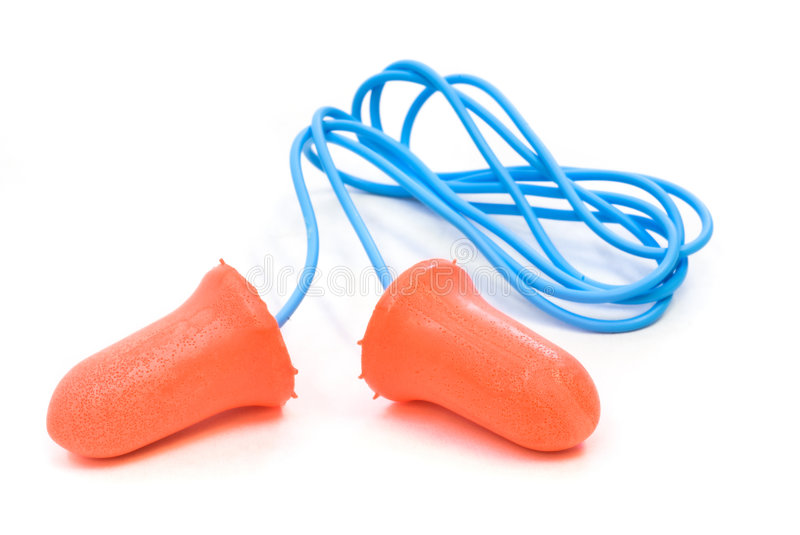 Ear plugs stock photography