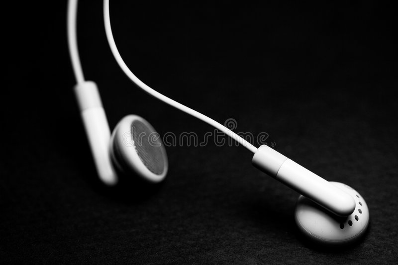 Ear pods royalty free stock images