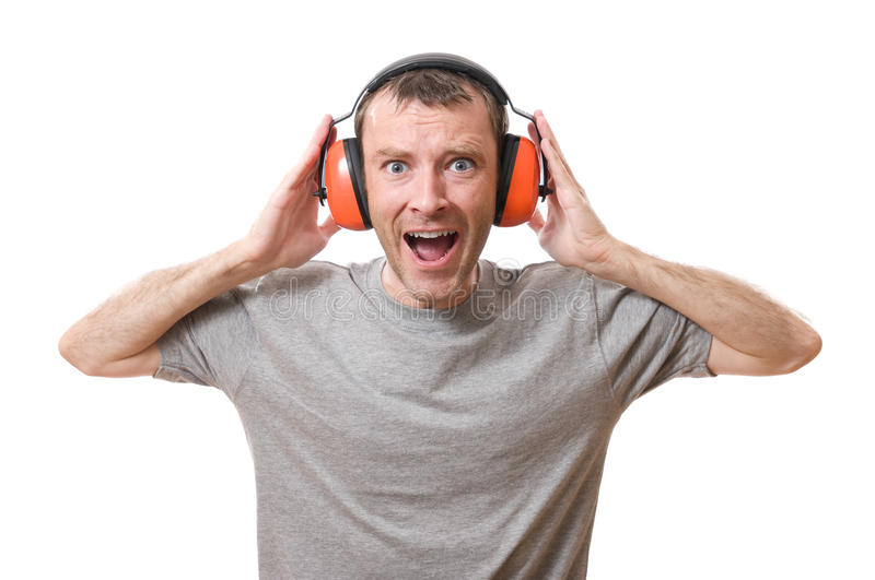 Ear protection royalty free stock photo