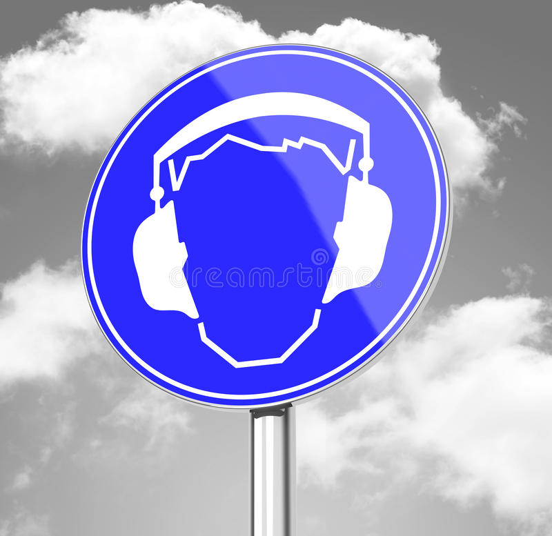 The ear protection vector illustration