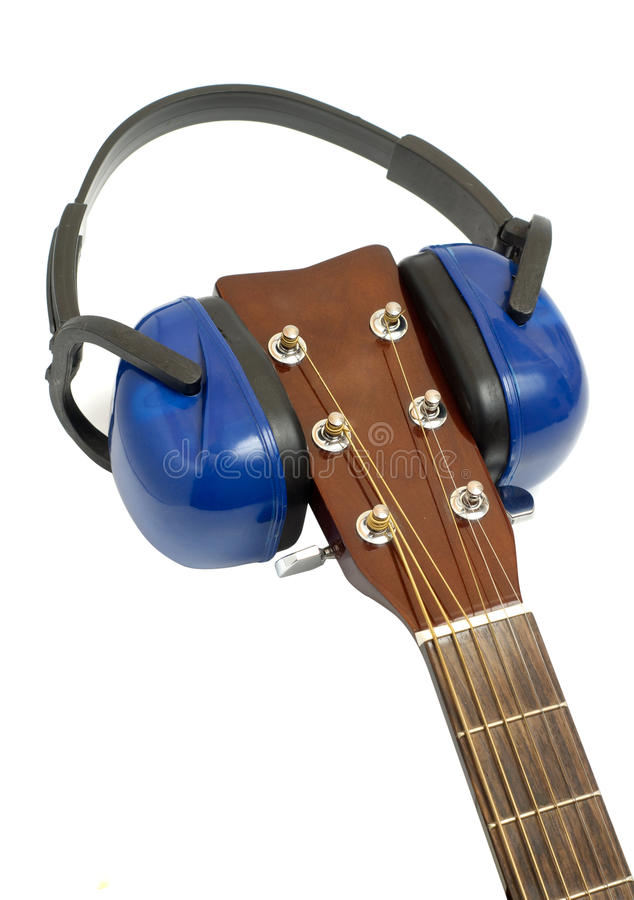 Download Ear protection on guitar stock image. Image of hear, musical - 21970783