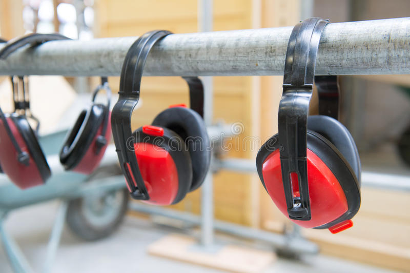 Ear protection for noise royalty free stock photo