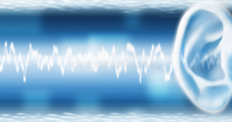 Download Ear With SoundWave stock photo. Image of business, sense - 4422584