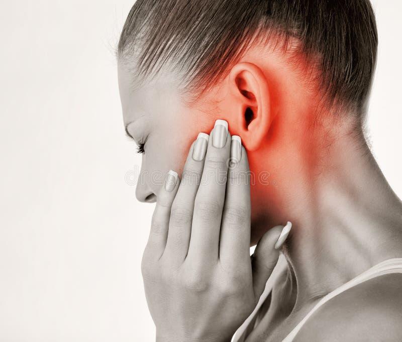 earache lizenzfreies stockfoto
