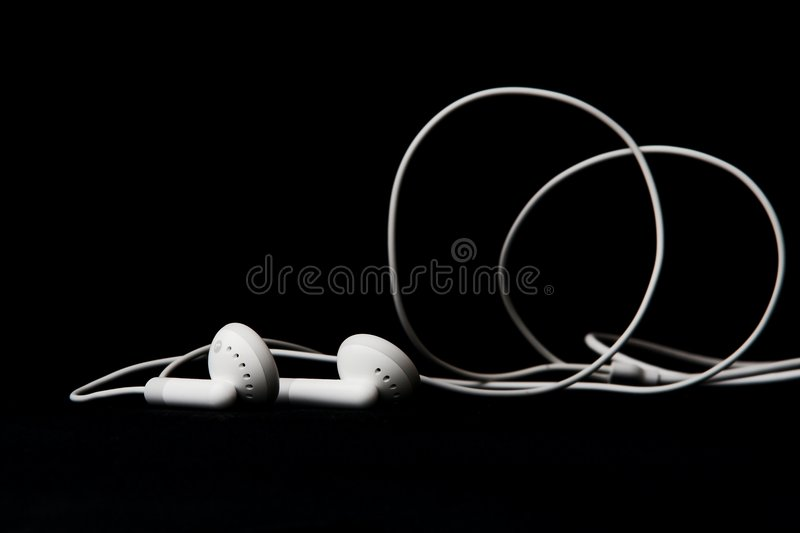Earbuds image stock
