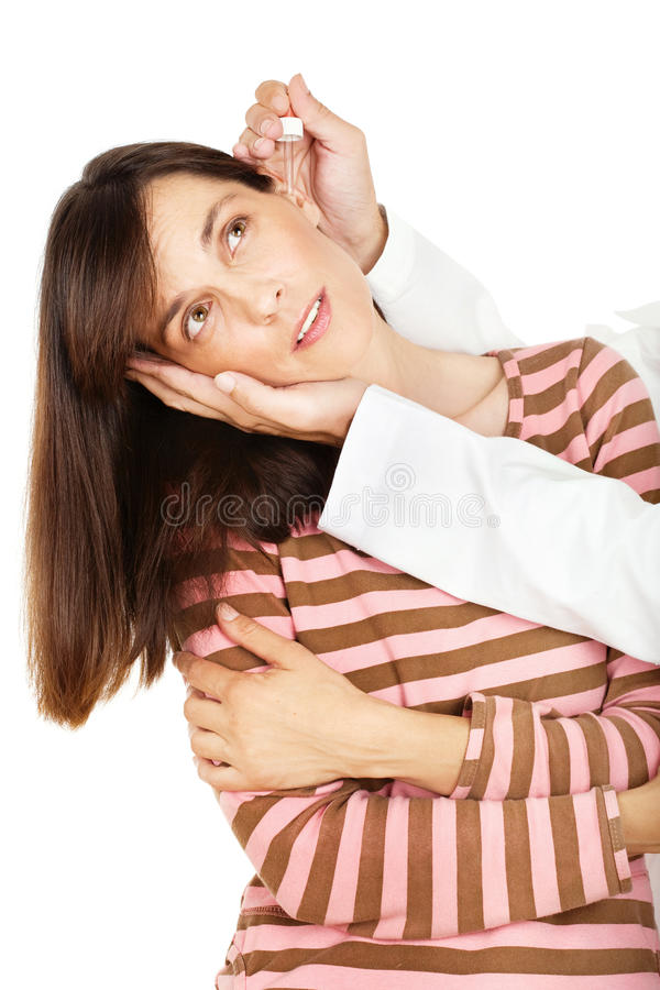 Download Eardropper over ear stock image. Image of young, hands - 22558557