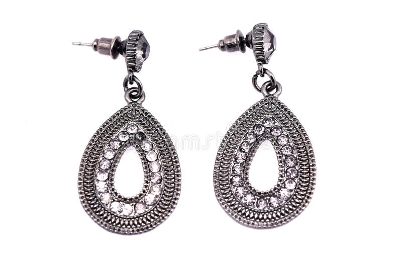 Earings d'argento immagine stock