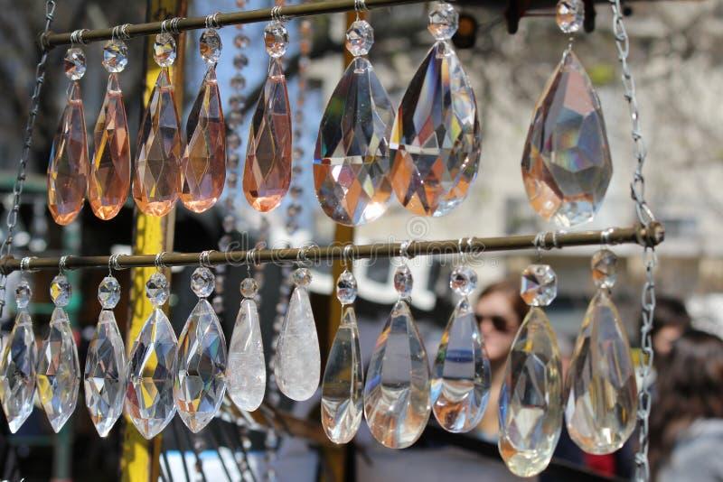 Earings de Cristal à vendre photos stock