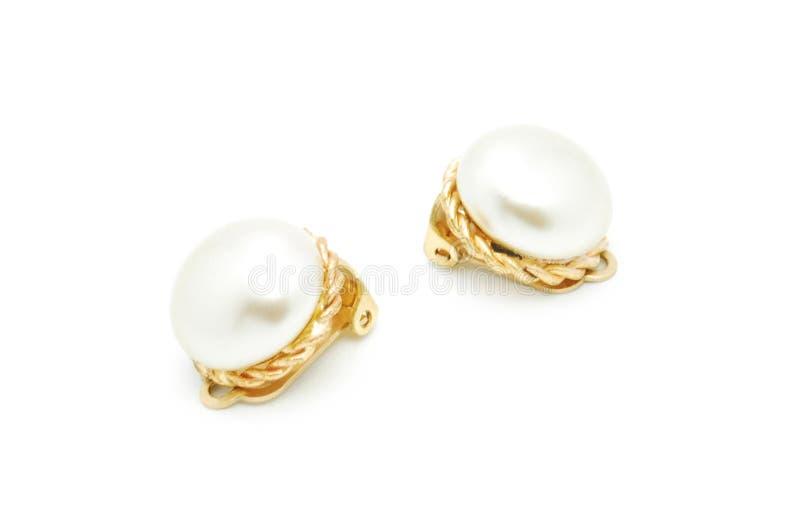 Earings de perle images libres de droits