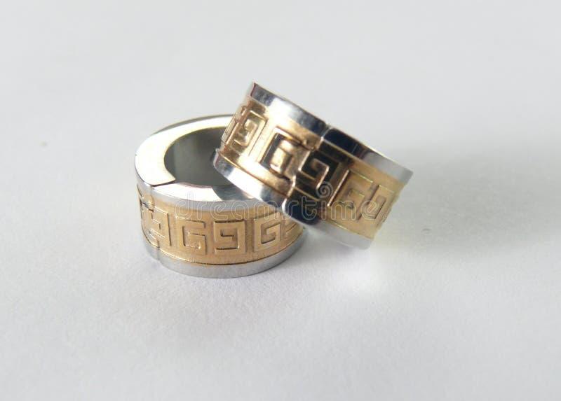 Earings-Gold stockfotografie