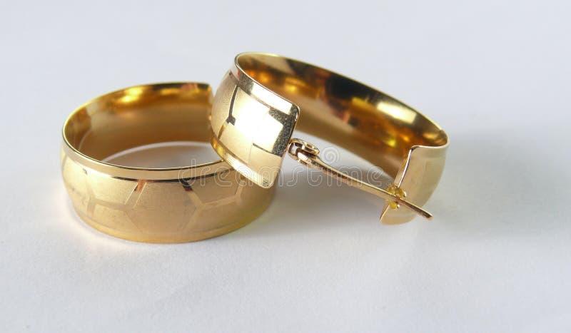 Earings-Gold lizenzfreies stockbild