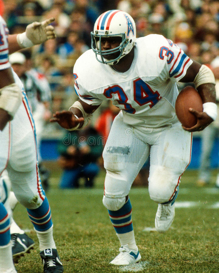 Earl Campbell Houston Oilers. Former Houston Oilers legend Earl Campbell #34. (Image taken from color slide royalty free stock image
