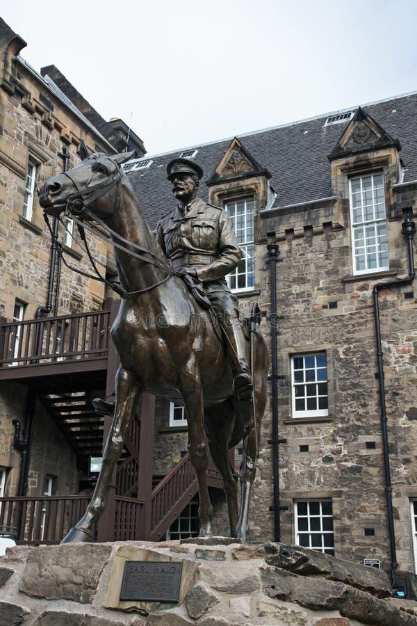 Earl Haig Statue - Edinburgh lizenzfreie stockbilder