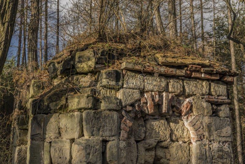 Earl-Kapelle nahe Straci-Dorf in der Winterzeit lizenzfreies stockbild