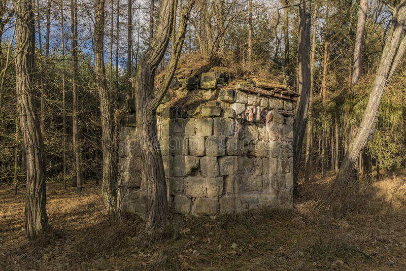 Earl-Kapelle nahe Straci-Dorf in der Winterzeit lizenzfreie stockbilder