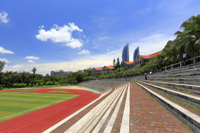 Earliest stadium of xiamen university, adobe rgb. The first athletic field of the famous xiamen university in xiamen city, fujian province, china stock images