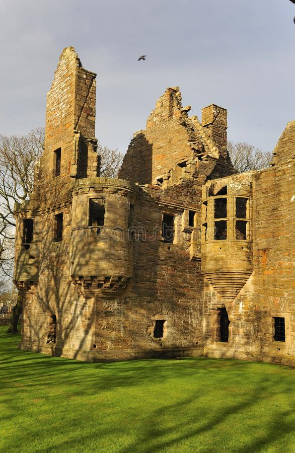 The Earls palace, Kirkwall, Orkney. This imposing ruin of the Earls palace, stands over the road from St Magnus cathedral to the south. It was began in 1607 by stock images