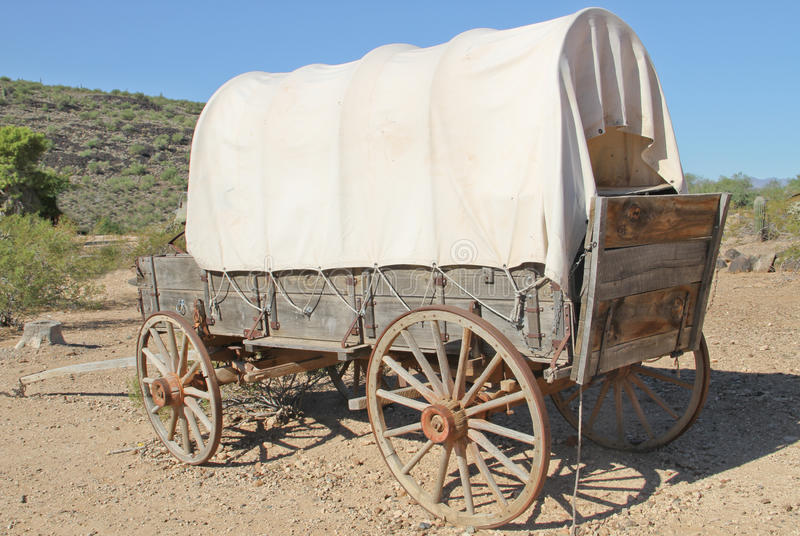 Early American Covered Wagon stock photography