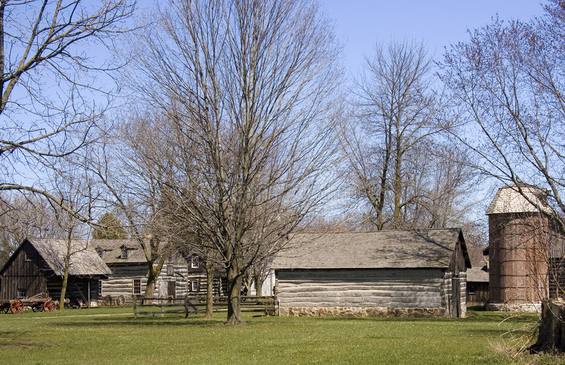 Download Early American Pioneer Homestead Stock Photo - Image: 9089072