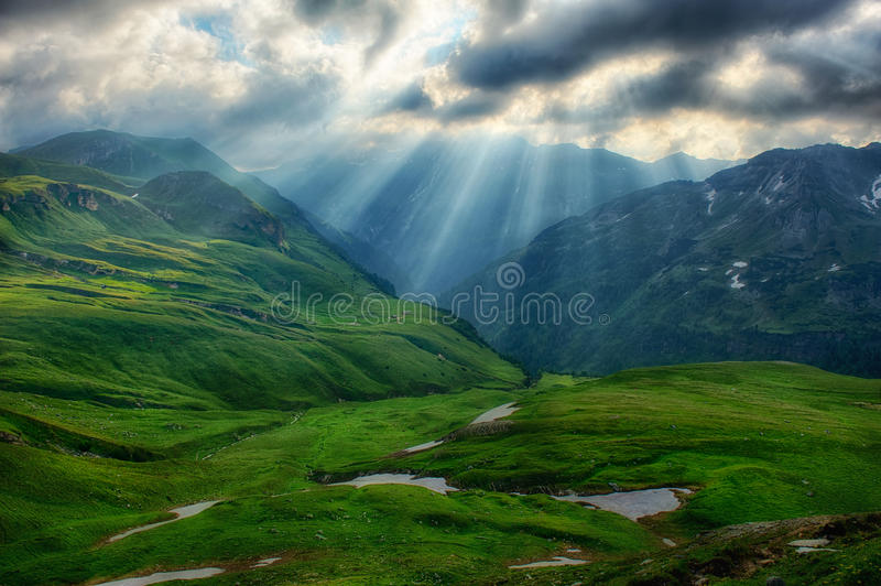 Early in the Austrian Alps royalty free stock photography