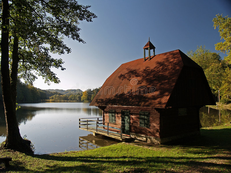 Early autumn at lake royalty free stock photo