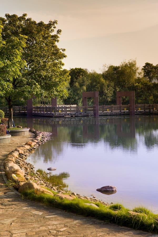 Early autumn lake stock photos