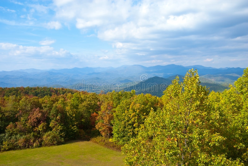 Early Autumn/Mountains stock image