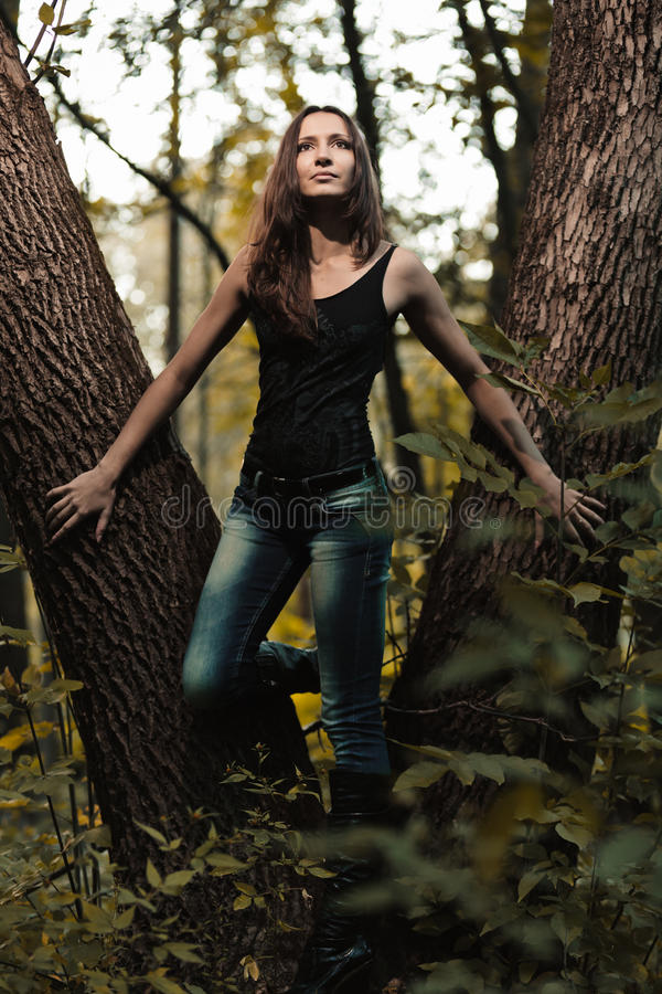 Early Autumn Portrait Of Girl Royalty Free Stock Photo
