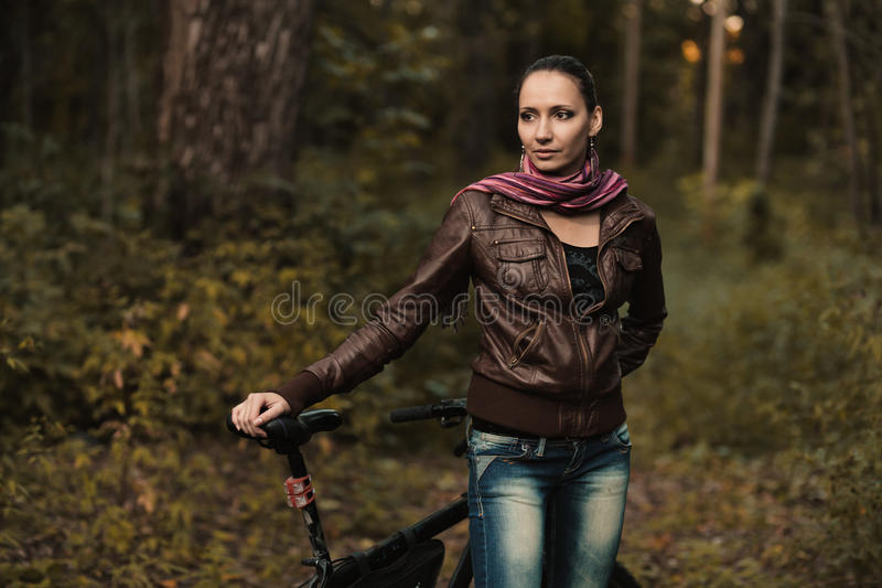 Early Autumn Portrait Of Girl Stock Image