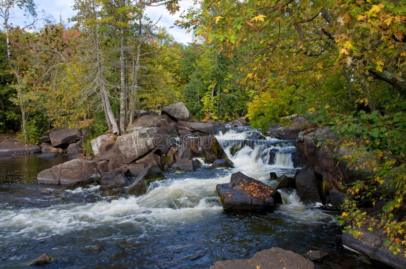 Early Autumn Waterfalls royalty free stock photos