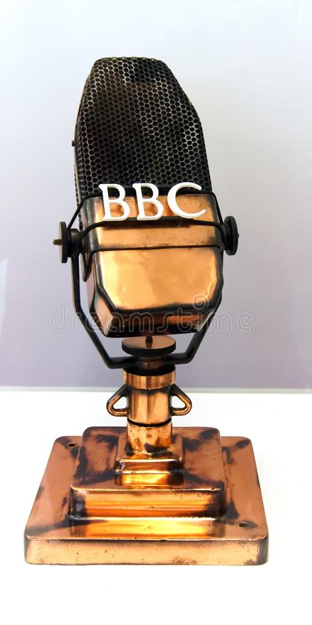Early BBC Microphone stock photo