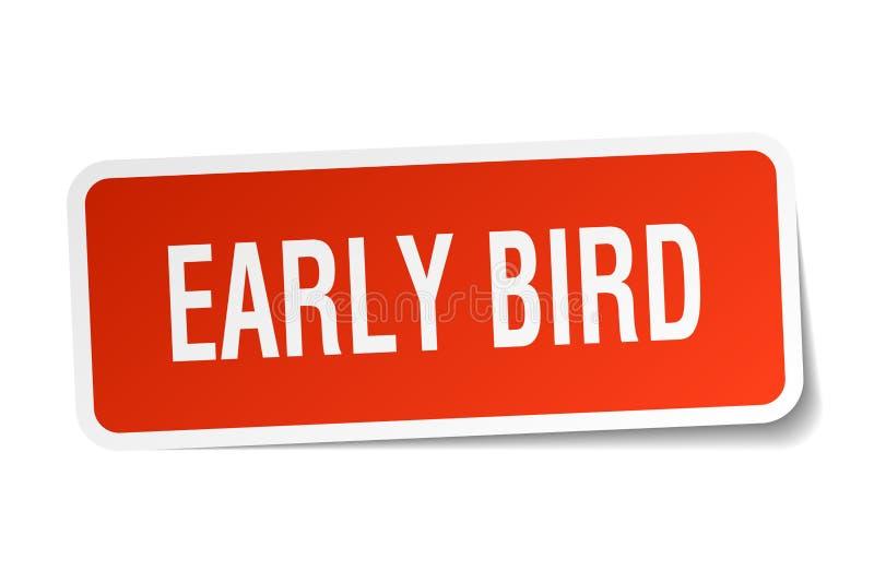 Early bird sticker royalty free illustration