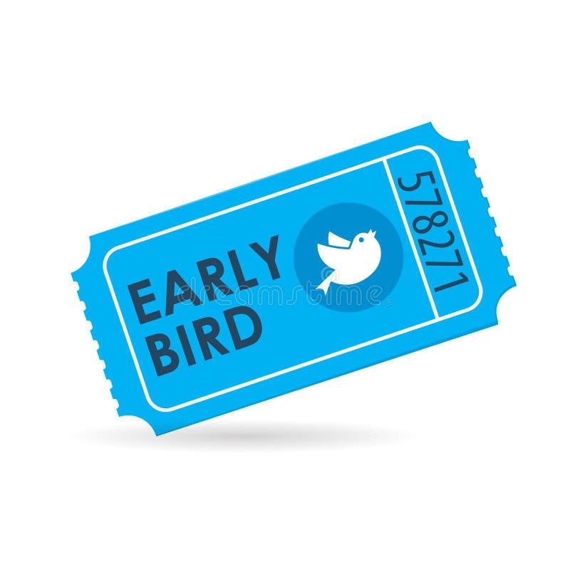 Free Early Bird Ticket Icon Stock Photo - 120715640