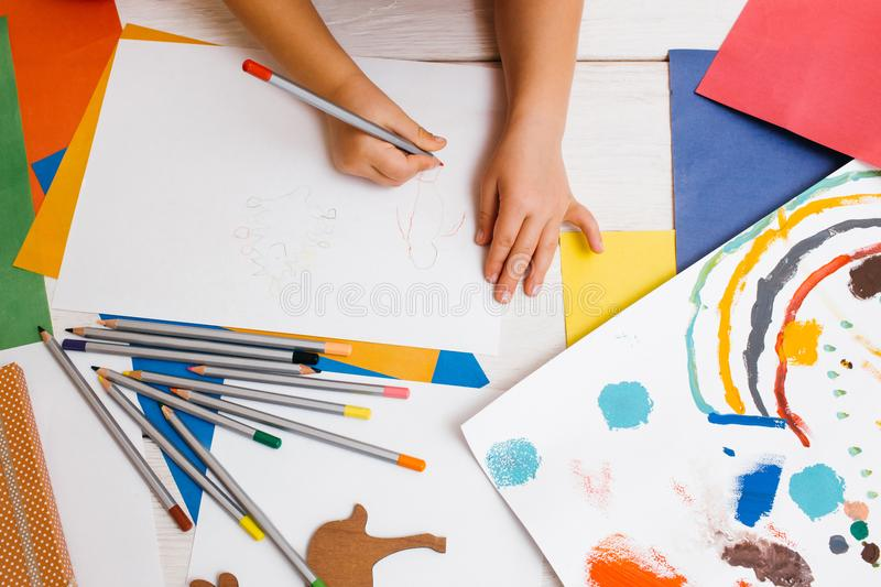 Early children education. Artistic child stock images