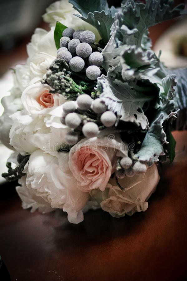 Bride`s Wedding Bouquet royalty free stock photos