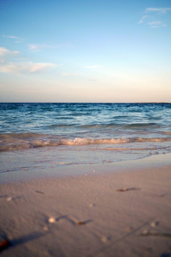 Early evening at Santa Clara Beach stock photos