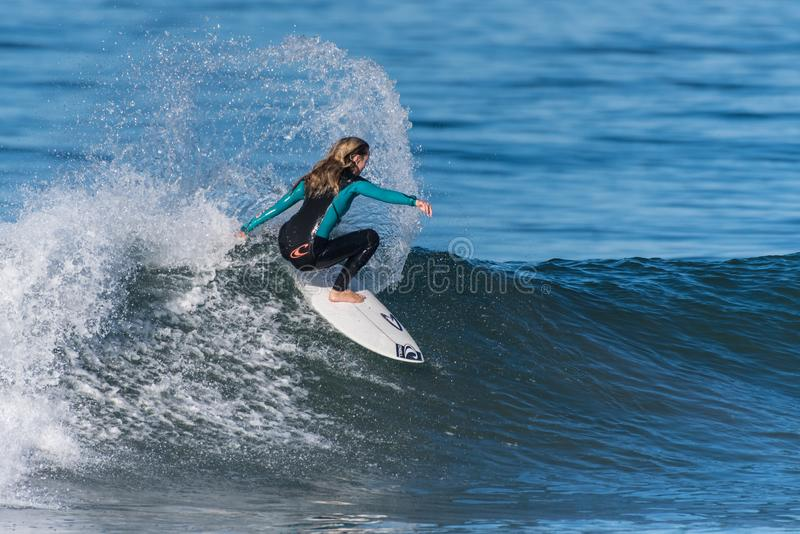 Early Fall south swell makes great landing pad.. stock photography
