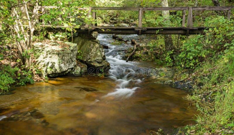 Bridge Over Fallingwater Creek, Blue Ridge Mountains of Virginia, USA stock images