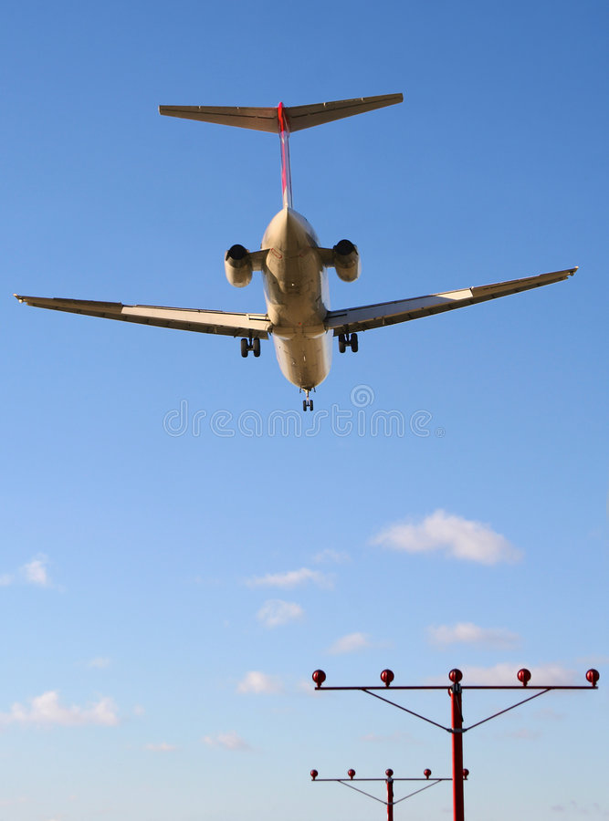 Download Early Flight On Final Approach Stock Image - Image: 457009