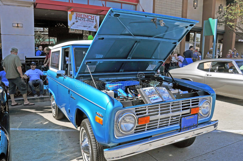 Early Ford Bronco. This early model Ford Bronco is off-road ready and was popular with four wheelers, hunters, rockhounds, and explorers. It is powered by a royalty free stock photography