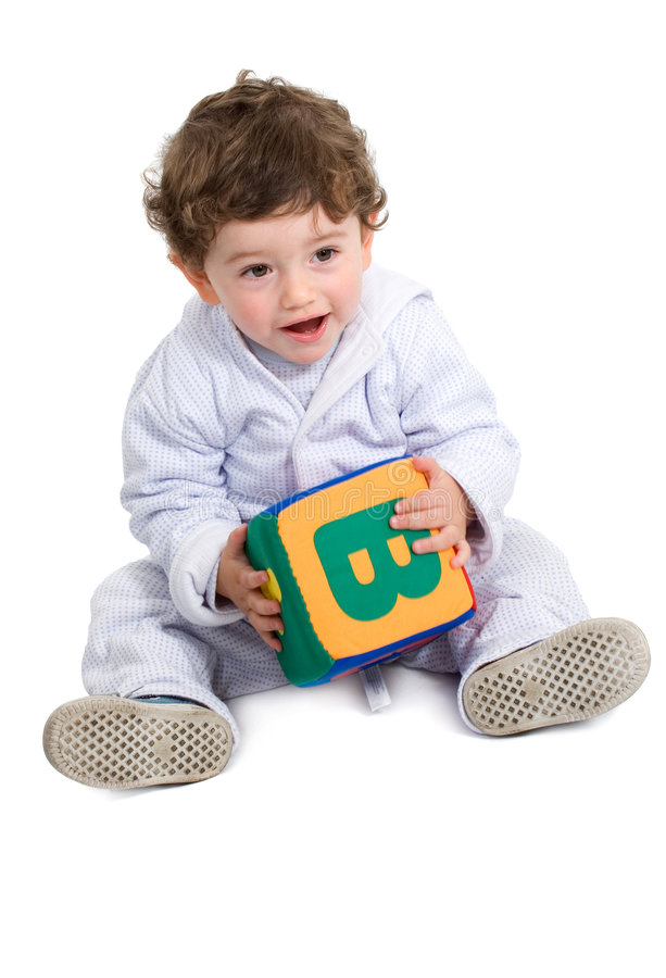 Download Early learning boy stock photo. Image of baby, subtracting - 3246262