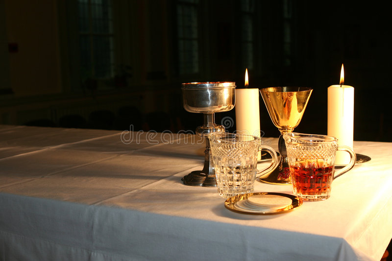 Download Early Morning In The Chapel 2 Stock Image - Image of mass, bread: 462381