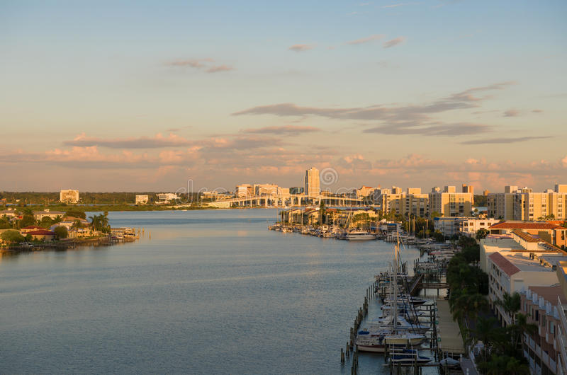 Early morning of clearwater. At tampa florida USA stock photos
